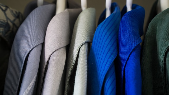 Shirts in a closet