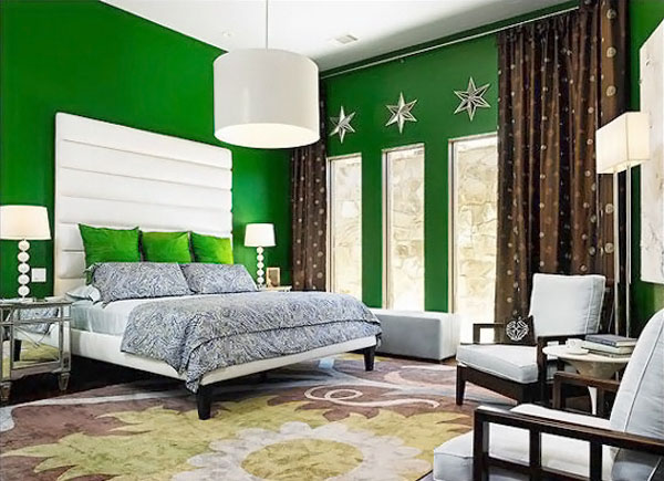 Bold Green Bedroom