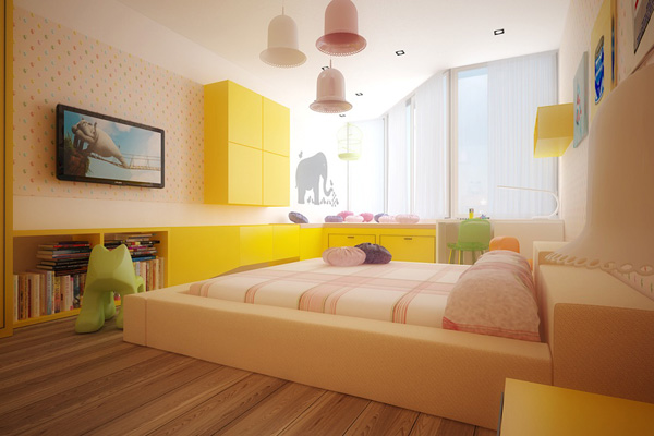 Yellow Kid's Bedroom