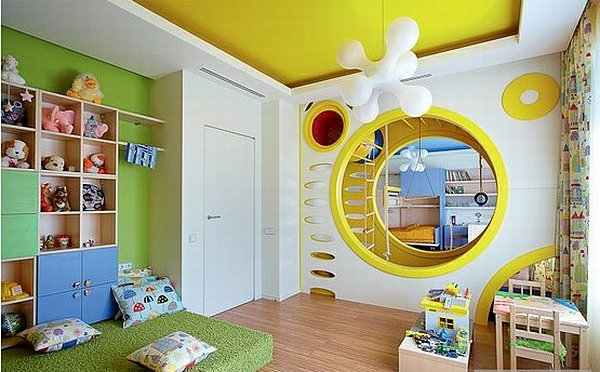 fake wall, attic playroom