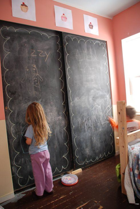 chalkboard, kids, attic playroom