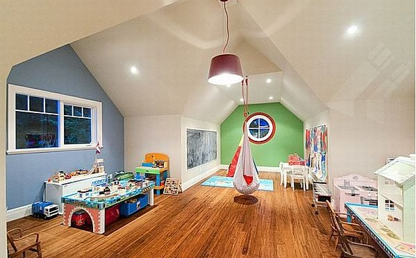 g\hanging chair, attic playroom