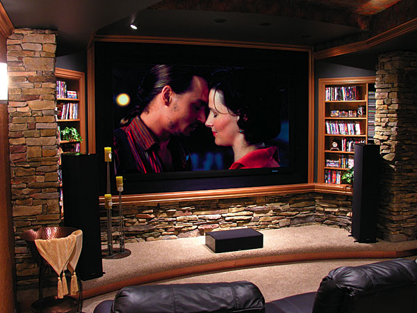 home cinema, man cave, attic decoration