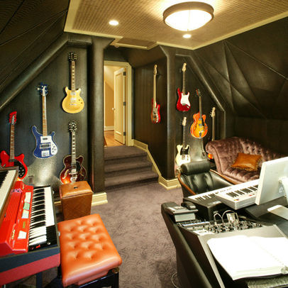 man cave, attic, rock