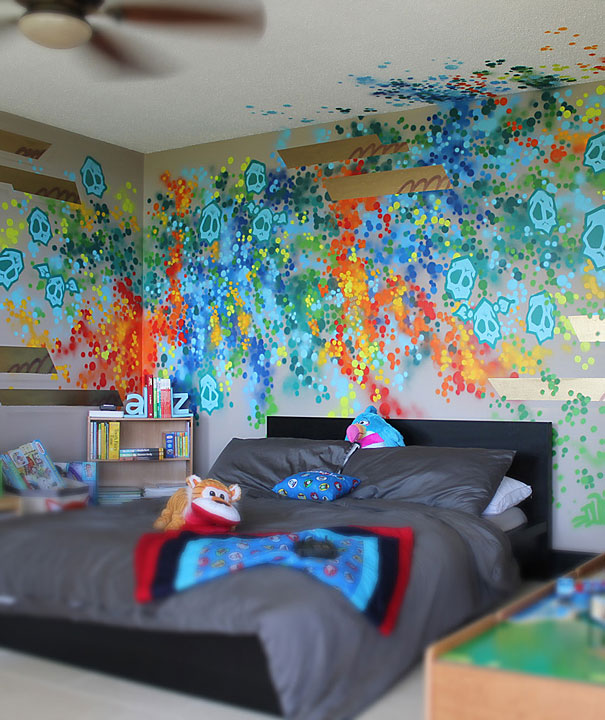 Dudeman presents fabulous graffiti furniture best home ideas for Graffiti style bedroom designs
