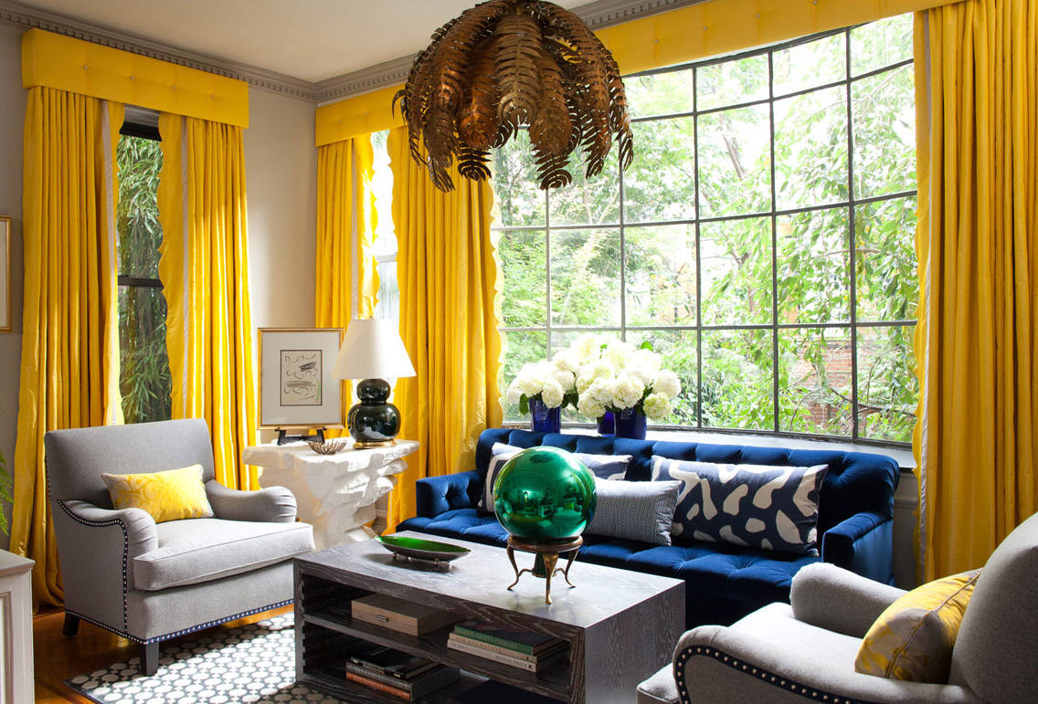 How to pick furniture for your home best home ideas - Black and gold living room curtains ...