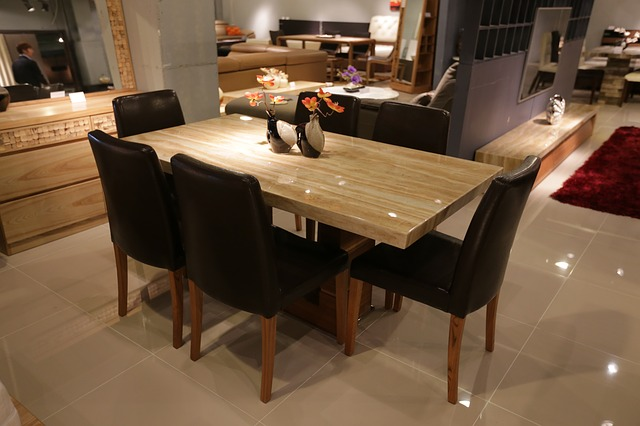 new and shiny modern dining room setting