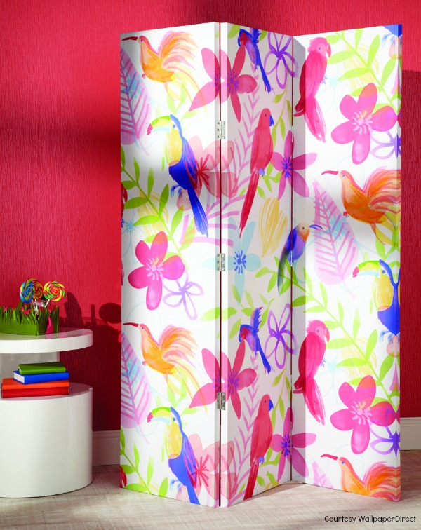 Open plan room divider Pretty Polly Screen Arthouse from WallpaperDirect