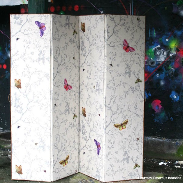 Open plan space dividers Butterflies screen from Timorous Beasties