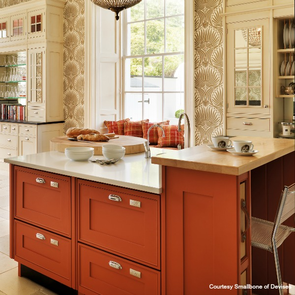 Burnt orange kitchen designs for Burnt orange kitchen cabinets