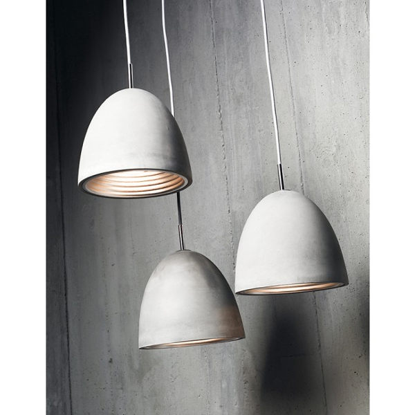 Concrete pendant lights
