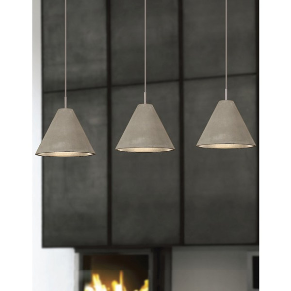 Conical concrete pendant lights