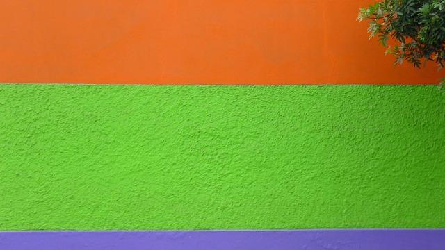 horizontal stripes on wall