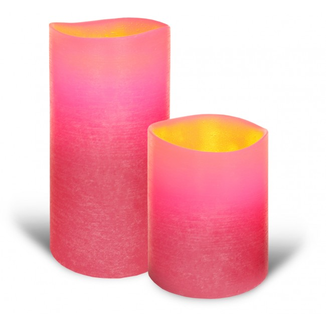 Pink candle lights