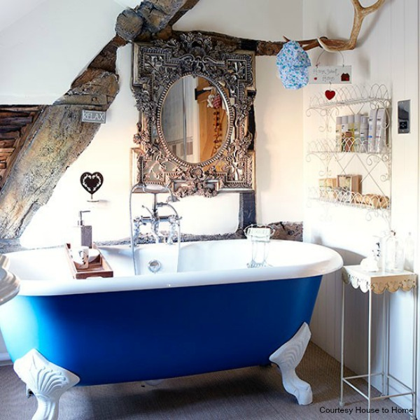 Be healthy and relaxed in your own bathroom spa best for Cobalt blue bathroom ideas