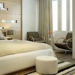 modern bedroom in natural colours