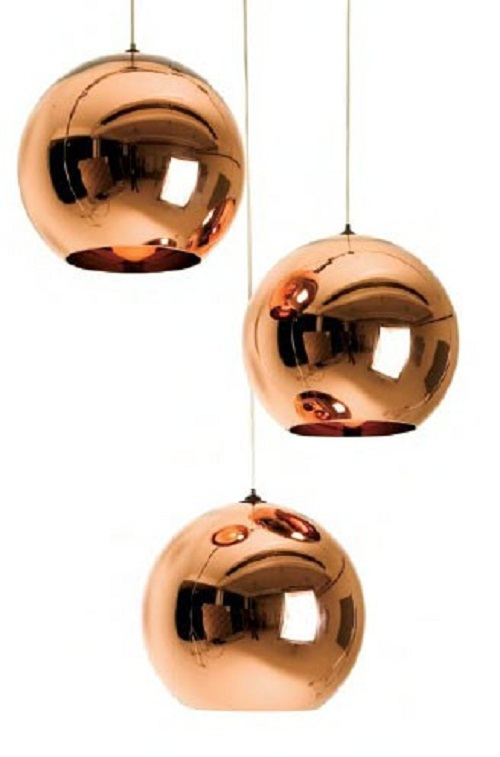 copper light pendants